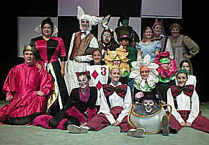 ALICE IN WONDERLAND Cast - The Enchanted Playhouse - Visalia (California)